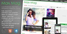 Max Mag - Responsive Wordpress Magazine Theme - ThemeForest Item for Sale $45