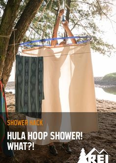 Wash off trail dust at your campground with REI Member Maiza's shower hack.