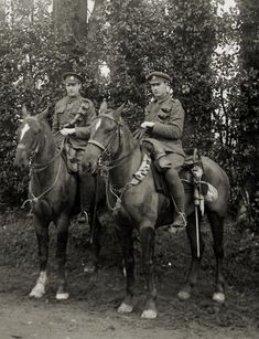 My grandfather Charlie Light, right, and his younger brother Jack Light grew up in Battleford, Saskatchewan and served in Lord Strathcona's Horse during World War One.