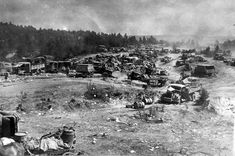 Starving Wehrmacht flees west across the steppe. Abandoned vehicles of the german 9th army at a road near Titowka/Bobruisk (Belarus). World War Two