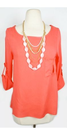 Super cute top! I need more coral in my wardrobe for Spring!