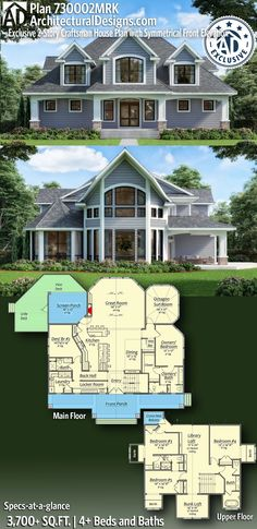 Sims 4 House Plans, House Plans One Story, Dream House Plans, Modern House Plans, House Floor Plans, Modern Architecture House, Architecture Plan, Interior Architecture, Craftsman House Plans