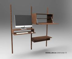 Modeller wall desk options Modern Classic, Mid-century Modern, Shelf System, Wall Desk, Modular Furniture, Scandinavian Style, Home Office, Mid Century, Shelves