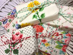 Soaps wrapped in fabric