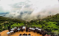 view of Islamabad from Monal restaurant at margalla hills Islamabad - Pakistan