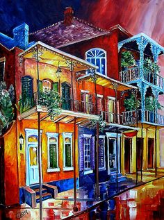 Colors of the Vieux Carre' by Diane-E, via Flickr