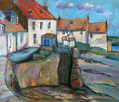 Coastal Cottages. Sadly can't find out who the artist is!