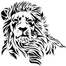 Image result for lion face black and white art