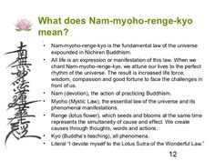*What does nam-myoho-renge-kyo mean Buddhist Wisdom, Buddhist Teachings, Buddhist Prayer, Buddhist Art, Buddha Zen, Buddha Buddhism, Chakras, Ikeda Quotes, Lotus Sutra