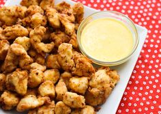 Chick-Fil-A copycat nuggets. 1 c flour, 1/8 c. powdered sugar, 2 tsp salt, 1.5 tsp pepper, 1/2 tsp paprika, Toss in ziplock bag with bite sized pieces of chicken.  Shake off excess flour and fry in skillet in oil about 5 minutes.