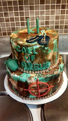 Call of Duty cake created by Alicia @ Phat N Sassy Sweets