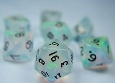 I FOUND THEMMM RPG Dice Set (Moonstone Green) role playing game dice