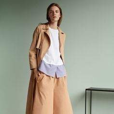 Update your match-me separates with a stylish sense of deconstruction. Untucked shirts offer playful ease to double denim and camel-hued tailoring, while skin is left natural and glowing with minimal make-up. #Topshop