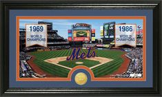 """New York Mets """"Traditions"""" Bronze Coin Panoramic Photo Mint"""