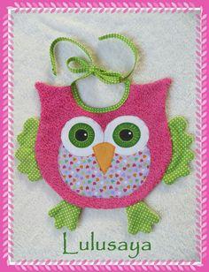 Diy appliqué owl bib