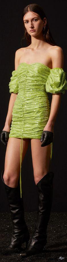 David Koma, British Style, Shades Of Green, Off Shoulder Blouse, Beautiful Dresses, High Fashion, Style Me, Stylish, Fall