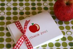 The TomKat Studio: Back to School: DIY Printable Thank You Cards ~ Perfect for Teachers!