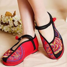 Embroidered Flats from #YesStyle <3 Eastwalk YesStyle.com