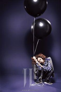 Kang Hye-jung, W Korea September 2012 Kang Hye Jung, W Korea, Photoshoot Concept, W Magazine, Fashion Lookbook, Superman, Balloons, Fashion Photography, September