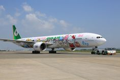 EVA Air introduces special flight to nowhere on a Hello Kitty plane Hello Kitty Fotos, Hello Kitty Images, Taipei, Jeju, Malaysian Airlines, Emirates Flights, Direct Flights, National Airlines, Cute Cartoon Characters