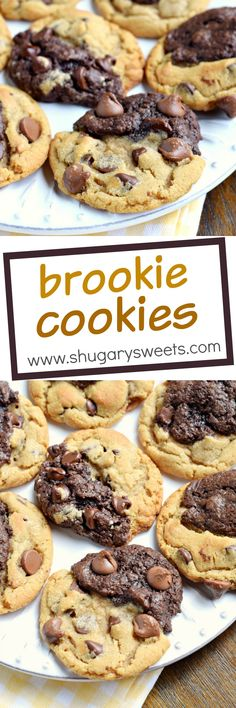 If you can't choose between Chocolate Chip Cookies and Brownies, these Brookie Cookies are the answer! Soft baked brownie cookies with the perfect texture and flavor!