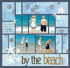 """Cute """"By The Beach"""" Layout...Helen: SCRAP A LITTLE."""