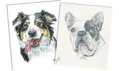 """Groupon - 11""""x14"""" Black-and-White or Color Pencil Pet Portrait from Debbie Sampson Pet Artist (Up to 46% Off) in Debbie Sampson Pet Artist. Groupon deal price: $55"""