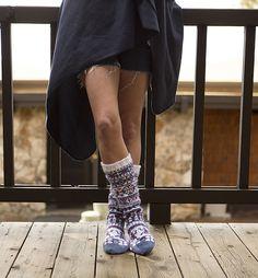 Ravelry: Slipper Socks pattern by Allison Judge from Stitch Mountain by Laura Zander