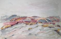 """A watercolour sea-inspired piece by Susan Feindel, 8.75"""" x 12.5"""" on paper"""