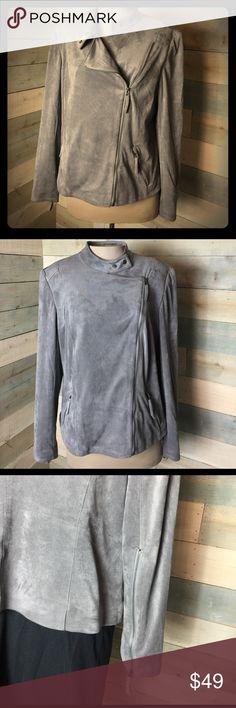Adrienne Vittadini Faux Suede Moto Jacket Gray XL Mass listing, will update shortly Adrienne Vittadini Jackets & Coats Blazers