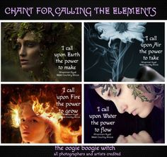 Chant for calling the Elements