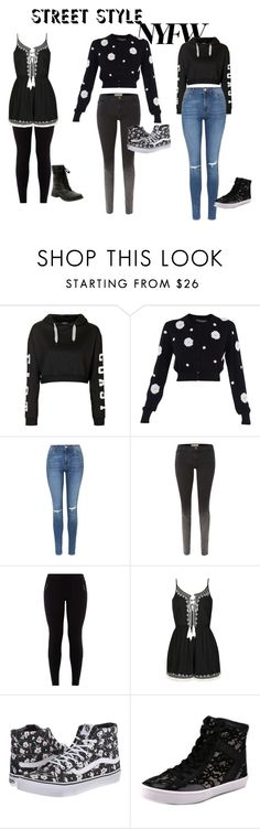 """""""Street style"""" by smithtribe ❤ liked on Polyvore featuring Topshop, Dolce&Gabbana, Current/Elliott, Ally Fashion, Vans, Rebecca Minkoff, women's clothing, women, female and woman"""
