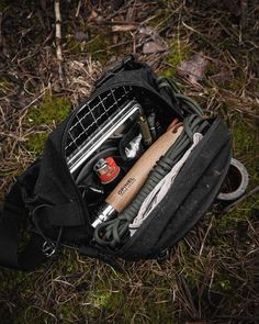 This survival & bushcraft kit is ultralight. In fact, you wear it as a fanny pack. Click the link to read more. Bushcraft Gear, Bushcraft Camping, Camping Gear, Outdoor Survival, Survival Kit, Bic Lighter, White Dogs, Fanny Pack, Bush Craft