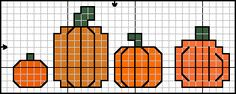 ♥ Korsstygns-Arkivet ♥: Napkin rings. . ѼCQ #crochet #crossstitch #charts #halloween #pumpkins óÓò