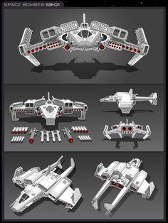 Space Bomber SB-01 by vpRaptor on deviantART