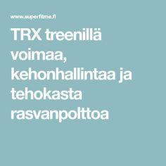 TRX treenillä voimaa, kehonhallintaa ja tehokasta rasvanpolttoa
