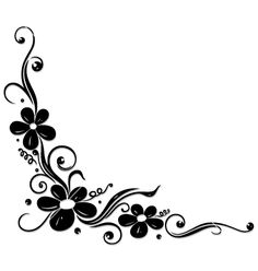 Flowers floral element vector – My CMS Page Borders Design, Border Design, Little Heart Tattoos, Gothic Pattern, Photo Frame Design, Doodle Art Designs, Wood Burning Patterns, Borders For Paper, Stencil Patterns
