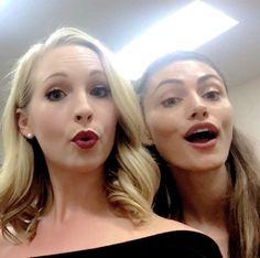 #TVD The Vampire Diaries Comic Con 2016 Candice Accola(Caroline) & Phoebe Tonkin(Hayley)