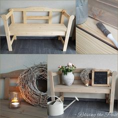 Tutorial: Hout vergrijzen met staalwol & azijn Ikea Pax, Ikea Hackers, Upcycled Furniture, Entryway Bench, Accent Chairs, Crafts, House, Site, Vintage
