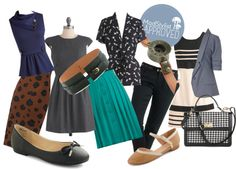 """April's New Job Looks"" by modcloth on Polyvore"
