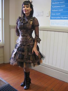 Steampunk Leather Dress by Cindy Gould, via Flickr