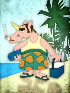 Last Days of Summer Unicorn Art Print