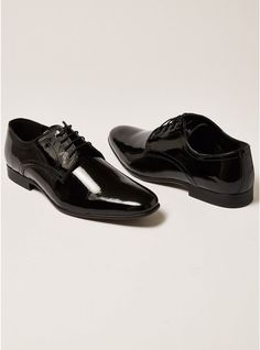 bbf259de4c Black Rocky Patent Derby Shoes