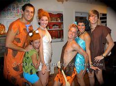 Simple Flintstones Group Costume... This website is the Pinterest of costumes