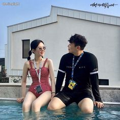 Couple Style, Ulzzang Couple, Fashion Couple, Wetsuit, Apps, Couples, Swimwear, Young Couples, Couple