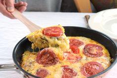 Frittata mit Artischocken, Speck und Zwiebeln   Low Carb Frühstück