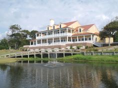 The southern style clubhouse at Brick Landing Plantation