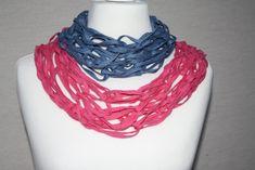 Weiteres - Loop Schlauchschal pink jeansblau Schal Tuch blau  - ein Designerstück von trixies-zauberhafte-Welten bei DaWanda