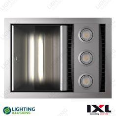 IXL Tastic Neo Single Bathroom Heater Fan Light, Silver Fascia, Hardwired for sale online Bathroom Supplies, Bathroom Heater, Bathroom Fan, Silver Bathroom, Led Lights, Fan Light, Bathroom Ceiling, Heater Fan, Bathroom