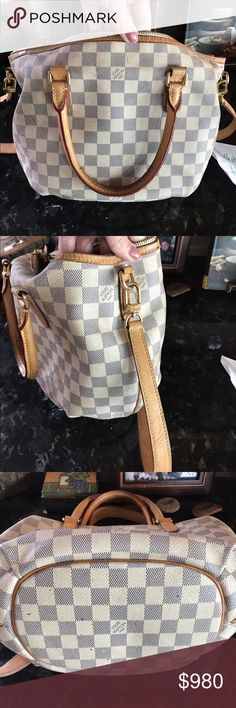 Louis Vuitton 2014 Shoulder Bag I purchased this in 2014. I don't know the name. Somerset LV in Troy Michigan. The interior I had spills that I have not attempted to clean for fear of ruining it with bleach. Price reflected. Exterior is in excellent shape with a few marks in bottom (pen?). Louis Vuitton Bags Shoulder Bags